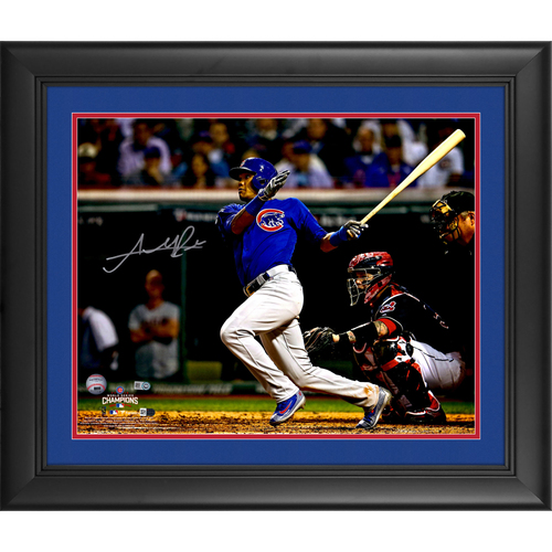 "Photo of Addison Russell Chicago Cubs 2016 MLB World Series Champions Framed Autographed 16"" x 20"" World Series Photograph"