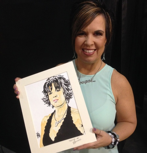 Vickie Guerrero Signed Painting by Rob Schamberger