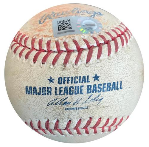 Photo of Game-Used Baseball from Pirates vs. Rockies on 7/18/14 - Francisco Liriano Single