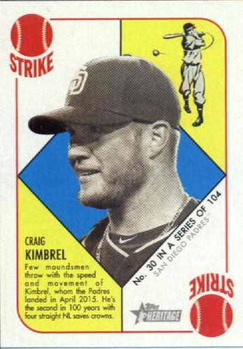 Photo of 2015 Topps Heritage '51 Collection #30 Craig Kimbrel