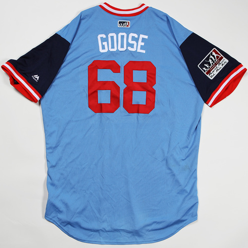 "Photo of Matt "" Goose"" Magill Minnesota Twins Game-Used Jersey 2018 Players' Weekend Jersey"