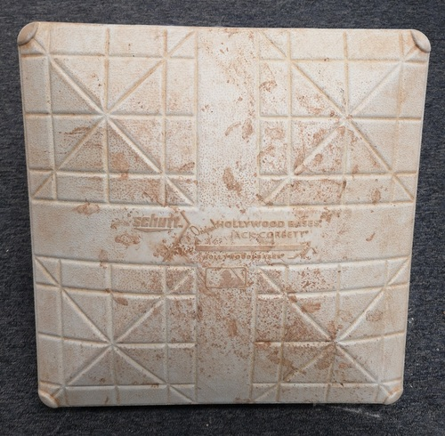 Photo of Authenticated Game Used Base - J.A. Happ's last start as a Blue Jay. (July 22, 2018 vs Baltimore Orioles). 3rd Base for Innings 1 to 3.