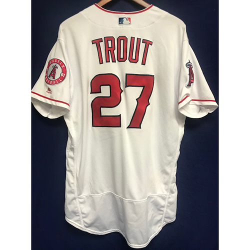 Photo of Mike Trout Game Used Home Jersey