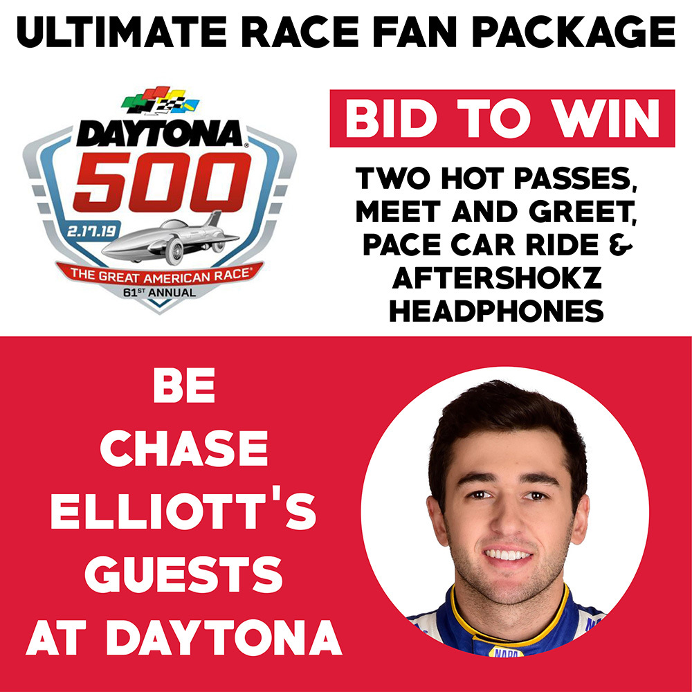 Chase Elliott's Ultimate Daytona 500 Race Fan Package