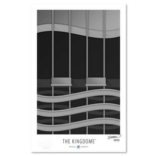 Photo of The Kingdome - Collector's Edition Minimalist Art Print by S. Preston #119/350  - Seattle Mariners