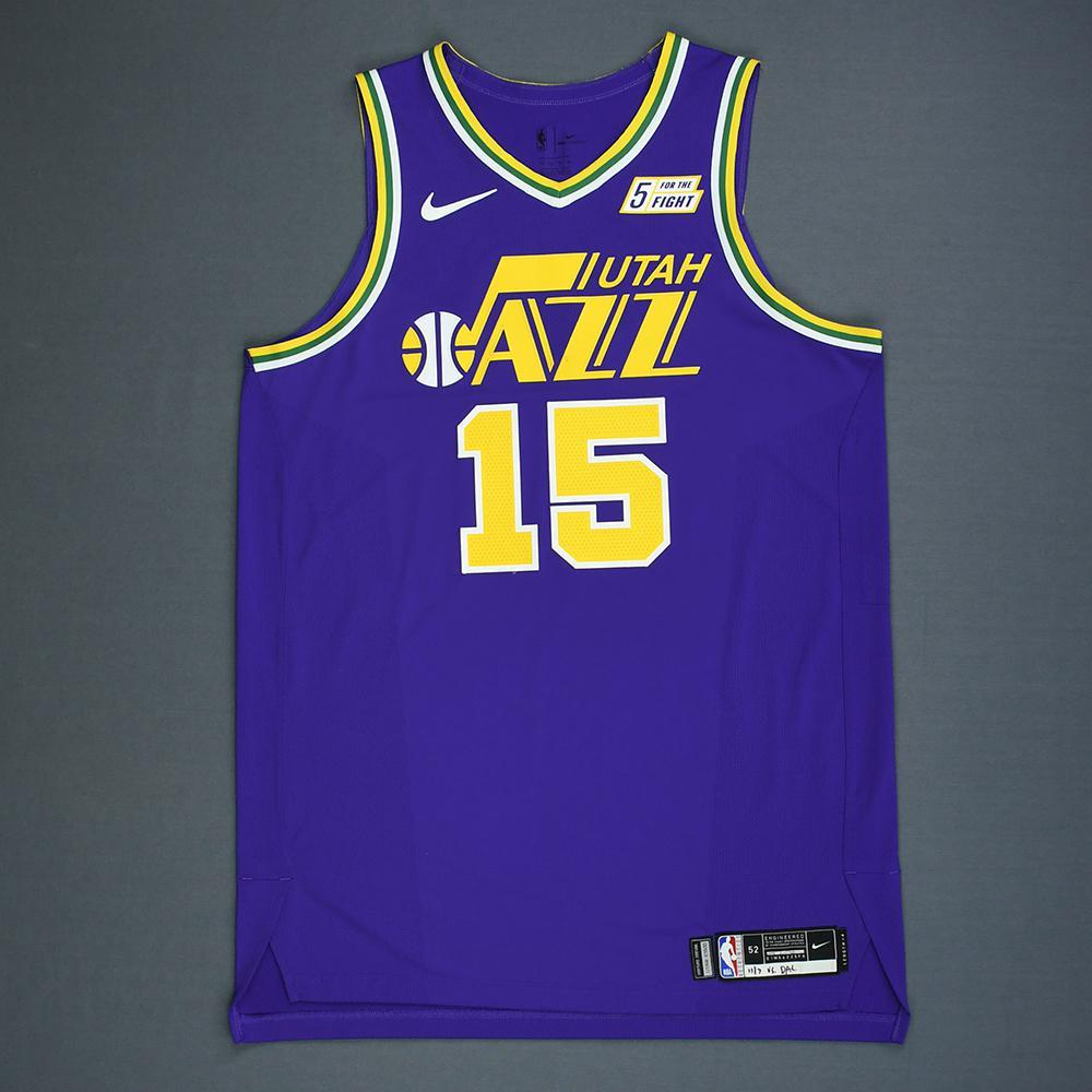 new products 55a07 4345b Derrick Favors - Utah Jazz - Game-Worn Classic Edition 1986 ...