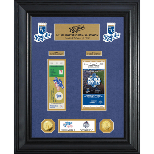 Photo of Kansas City Royals World Series Deluxe Gold Coin & Ticket Collection