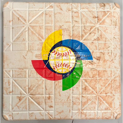 Photo of 2017 World Baseball Classic Game Used Base- 3rd base (Innings 1-6) (Australia at Cuba)