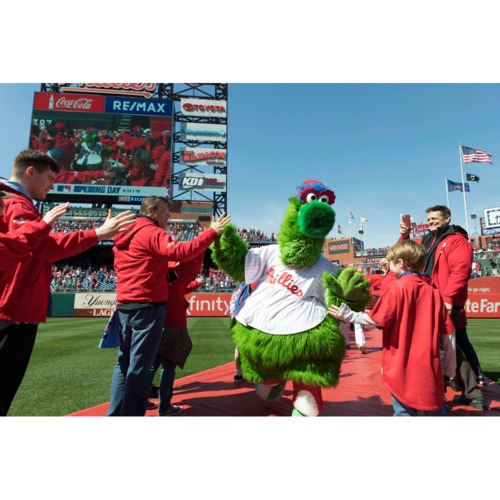 """Photo of On-Field """"Leadoff Walk"""" 2020 Opening Day Experience"""
