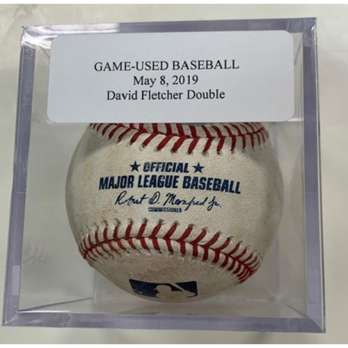 Game-Used Baseball: David Fletcher Double