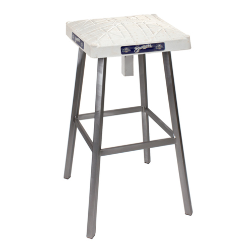 Photo of Tokens & Icons Milwaukee Brewers Game Used Base Stool