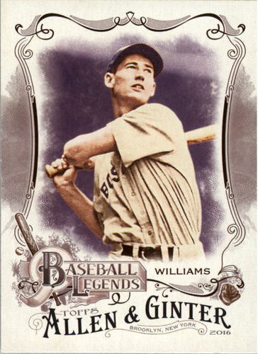 Photo of 2016 Topps Allen and Ginter Baseball Legends #BL11 Ted Williams