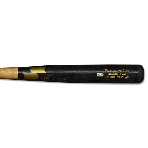 Photo of Robinson Cano #24 - Team Issued Full Bat - Black and Beige SSK Model