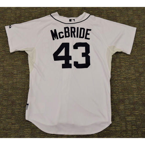 Photo of Macay McBride Detroit Tigers #43 Home Jersey (NOT MLB AUTHENTICATED)