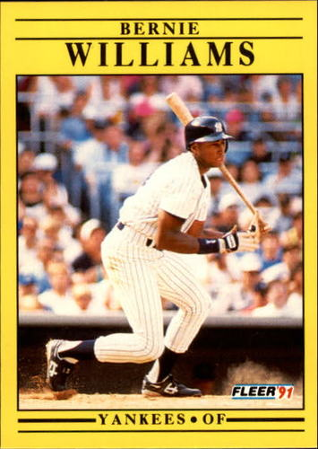 Photo of 1991 Fleer Update #49 Bernie Williams