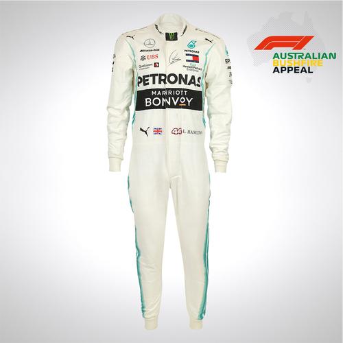 Photo of Lewis Hamilton 2019 Signed Race Suit