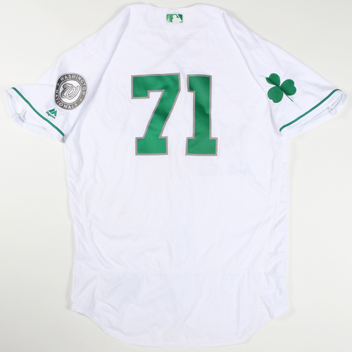 Photo of 2016 Spring Training - Spring Training Game Used Jersey - Michael Brady (Nationals)- Size- 46