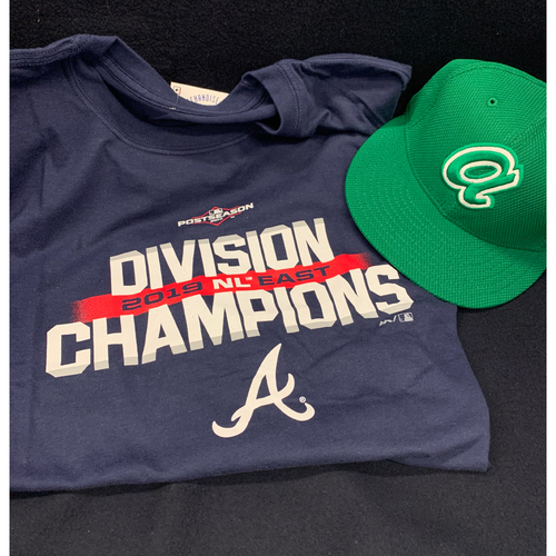 Photo of Buy Now! 2019 NL East Champions shirt, St. Patrick's Day Hat, and Mystery Autographed Photo