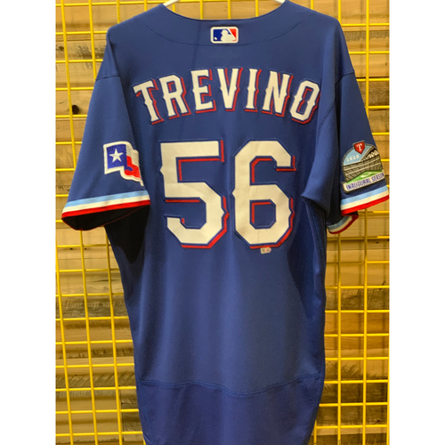Photo of Jose Trevino Team-Issued Blue Jersey
