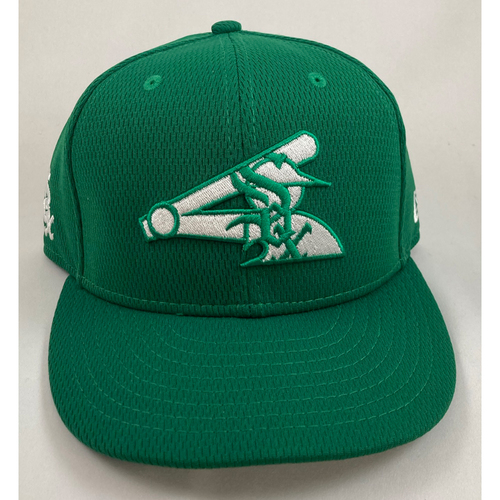 Photo of Eloy Jimenez 2021 Game-Used St Patrick's Day Cap - Size 7 5/8