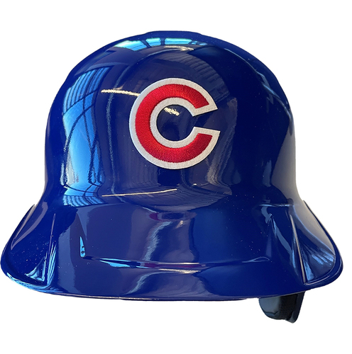 Photo of Cubs Team-Issued Helmet -- 2021 Season -- Size 7 1/4