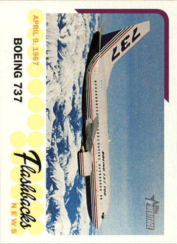 Photo of 2016 Topps Heritage News Flashbacks #NFB737 Boeing 737