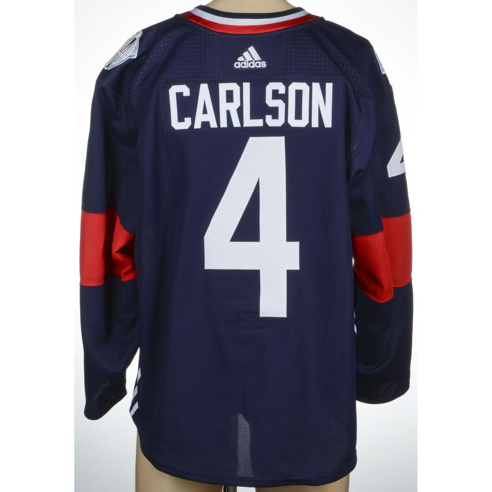cheaper a68a8 838ab John Carlson Washington Capitals Game-Worn World Cup of ...