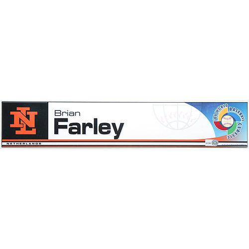 Photo of 2006 Inaugural World Baseball Classic: Brian Farley Locker Tag (NED) Game-Used Locker Name Plate