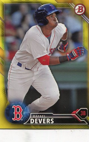Photo of 2016 Bowman Prospects Yellow #BP109 Rafael Devers