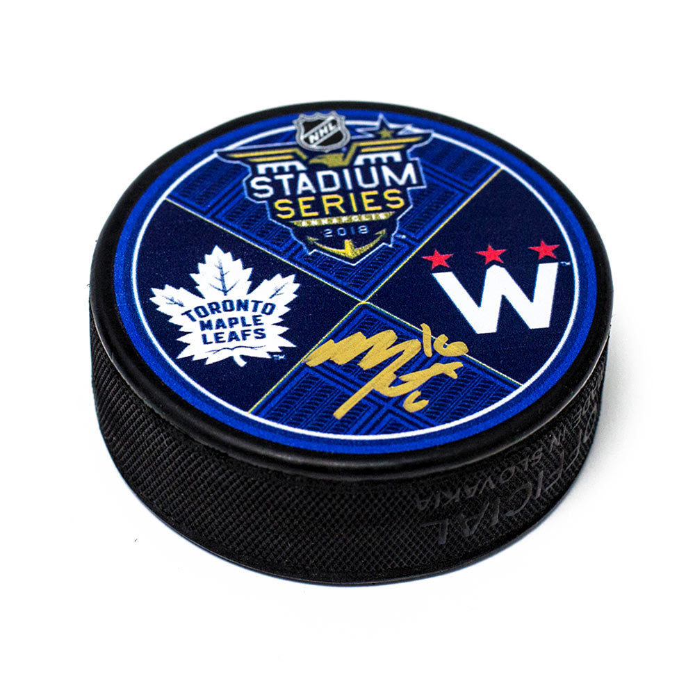 Mitch Marner Toronto Maple Leafs Autographed 2018 Stadium Series Puck
