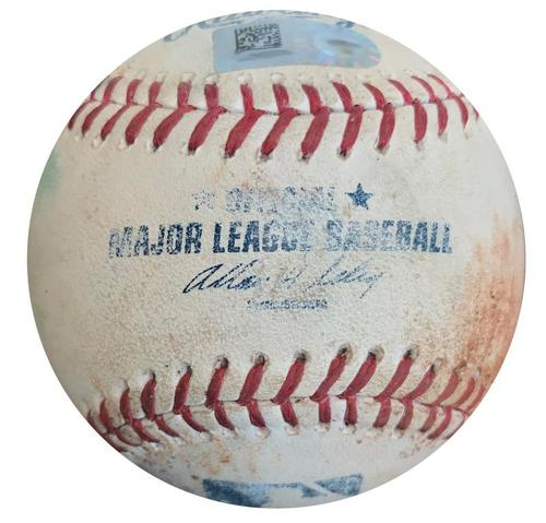 Photo of Game-Used Baseball from Pirates vs. Rockies on 7/20/14 - Chris Stewart Double