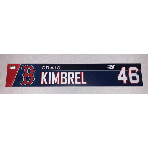 Photo of Craig Kimbrel June 10, 2018 Game-Used Locker Tag