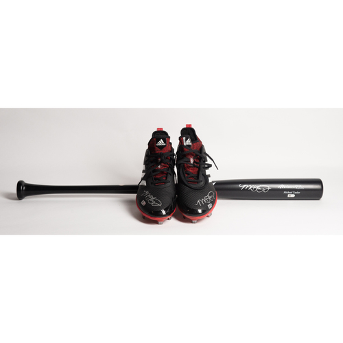 Photo of Autographed Michael A. Taylor Bat and Cleats - Winning Bidder Can Pick Up Items Directly From Michael on September 24, 2018