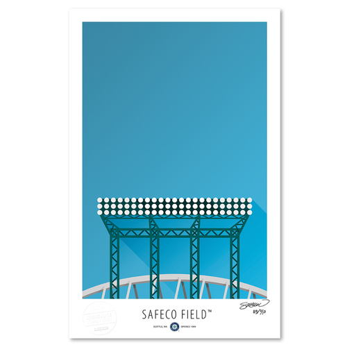 Photo of Safeco Field - Collector's Edition Minimalist Art Print by S. Preston #119/350  - Seattle Mariners
