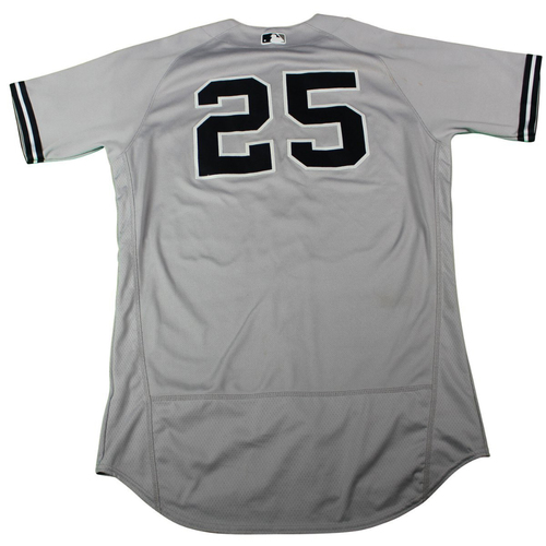 Photo of Gleyber Torres New York Yankees 2018 Road Game Used #25 Jersey (5/3/2018)