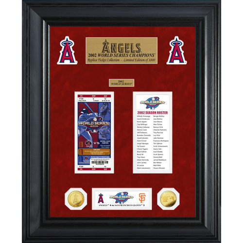 Photo of Los Angeles Angels World Series Deluxe Gold Coin & Ticket Collection