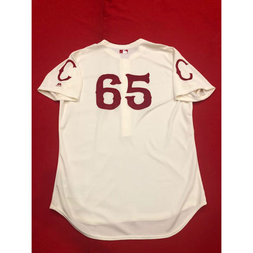 Caleb Cotham -- Game-Used Jersey & Pants -- 1912 Throwback Game -- Dodgers vs. Reds on May 19, 2019