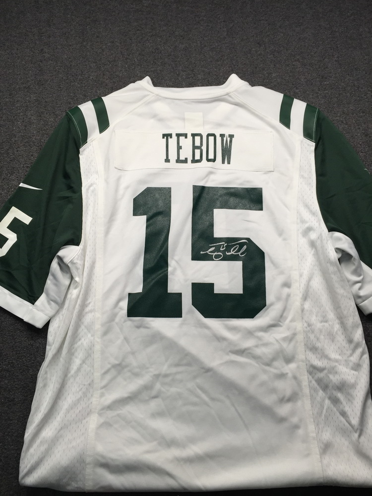 Jets - Tim Tebow Signed Replica Jersey Size L