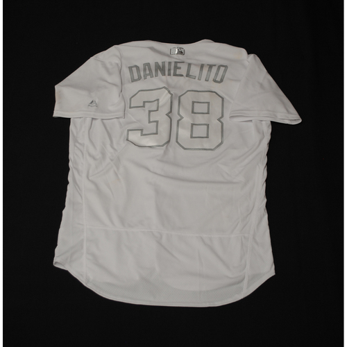 "Photo of Danny ""DANIELITO"" Santana Texas Rangers Game-Used 2019 Players' Weekend Jersey"