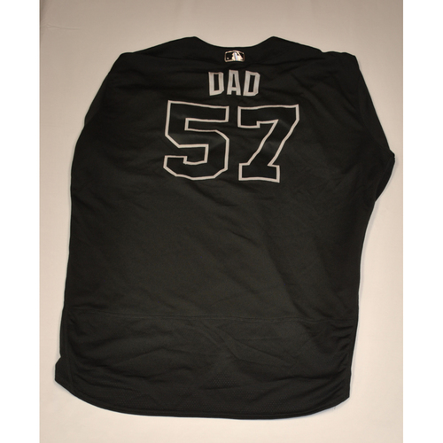"Photo of Sal ""DAD"" Fasano Atlanta Braves Game-Used 2019 Players' Weekend Jersey"
