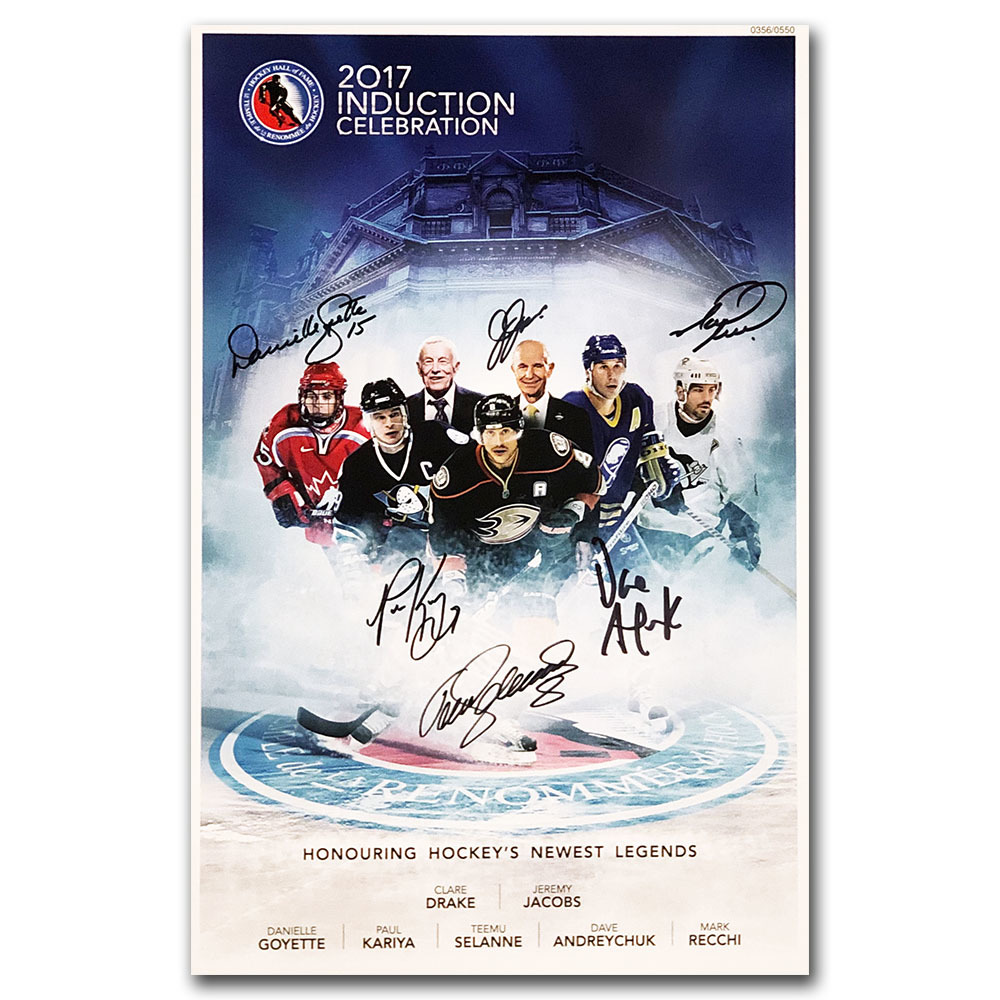 2017 Hockey Hall of Fame 11X17 Poster Autographed by Inductees