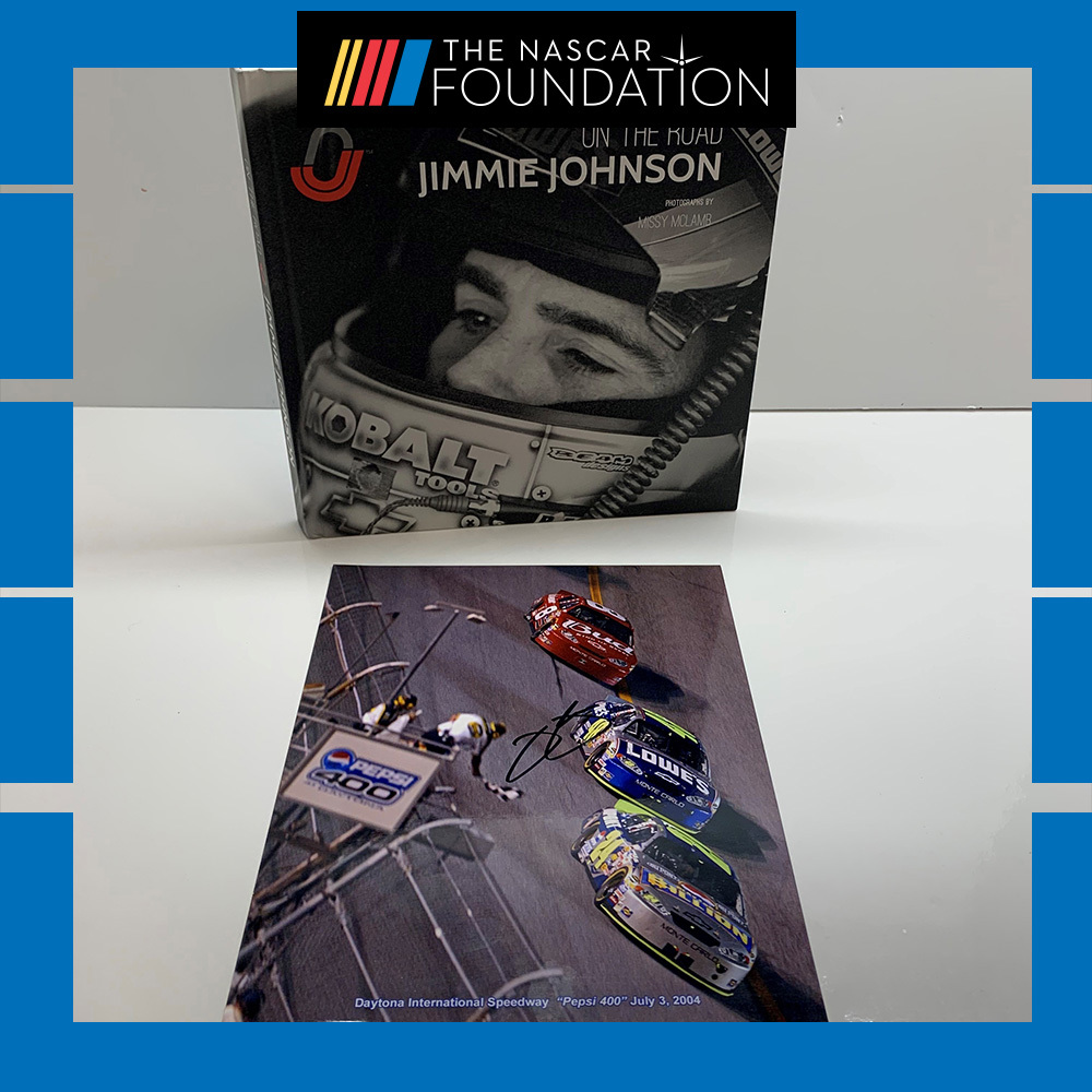 NASCAR's Jimmie Johnson Book and Autographed Photo!