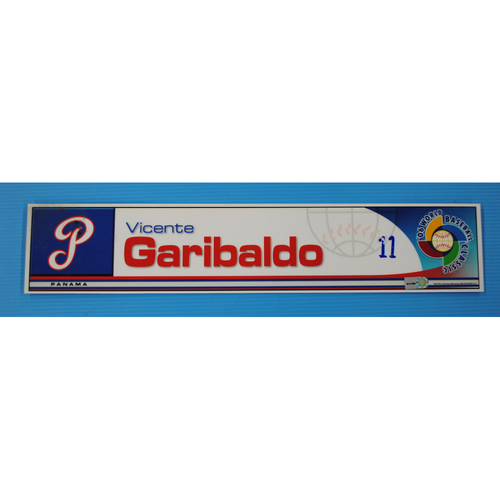 Photo of 2006 Inaugural World Baseball Classic: Vicente Garibaldo Locker Tag - PAN