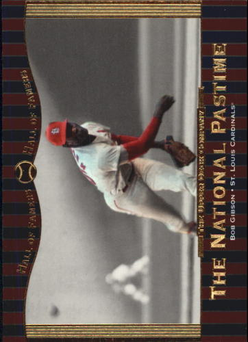 Photo of 2001 Upper Deck Hall of Famers #75 Bob Gibson NP