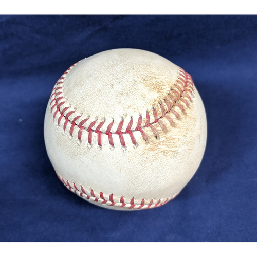 Game-Used Baseball 7/20/2017 - Pitcher - Mike Foltynewicz, Batter - Corey Seager - Double
