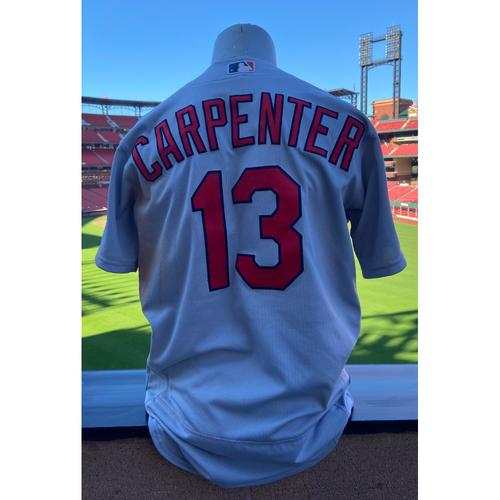 Photo of Cardinals Authentics: Game-Used Matt Carpenter Road Grey Jersey *Grand Slam August 19,2020*