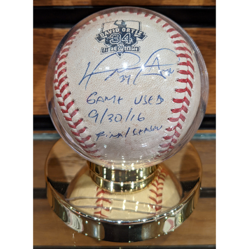 Photo of David Ortiz Autographed 'Ortiz Final Season' Game Used Baseball