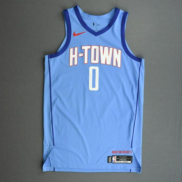 Image of Sterling Brown - Houston Rockets -  Game-Worn City Edition Jersey - 2020-21 NBA Season