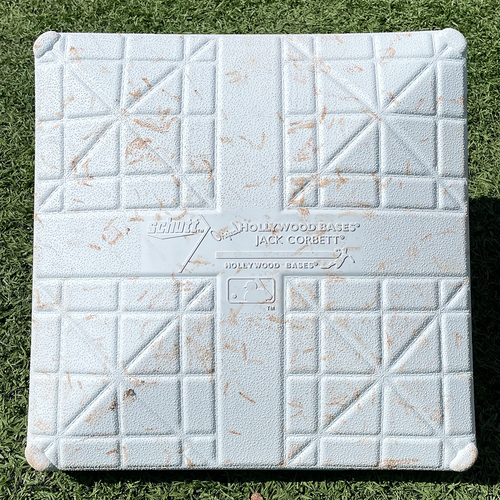 Photo of Game Used Jackie Robinson Day Base - 2nd Base, Innings 7-9 - Nimmo Double and Home Run - Mets vs. Nationals - 4/23/21