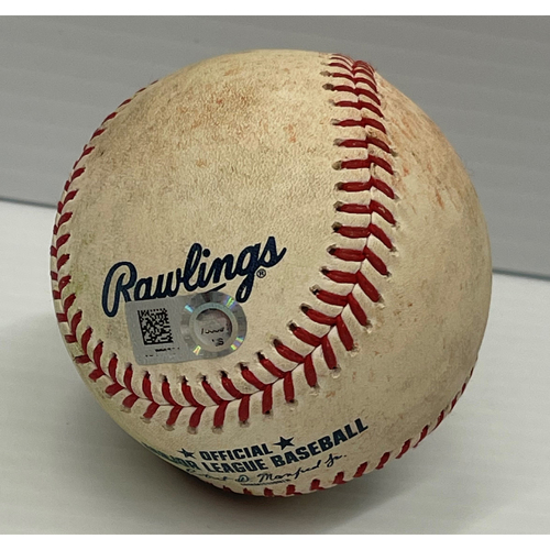 Photo of Game Used Baseball - 7/23/2021 Rays at Indians - Wander Franco singles off Zach Plesac, Yandy Diaz grounds into double play off Plesac